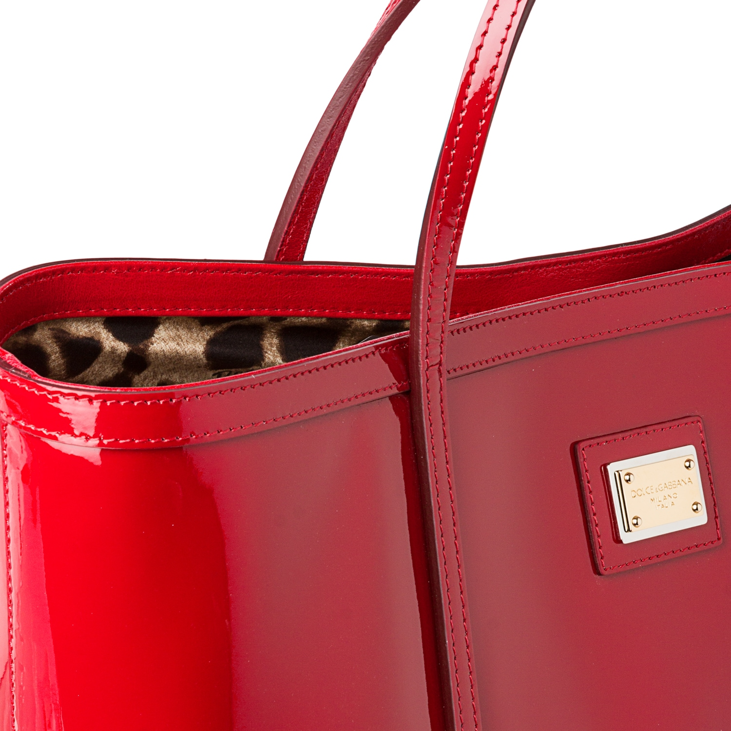 ... Shop Dolce Gabbana Miss Escape Red Patent Leather Tote Bag - Free  Shipping Today - Overstock ... 1dd8291968af9