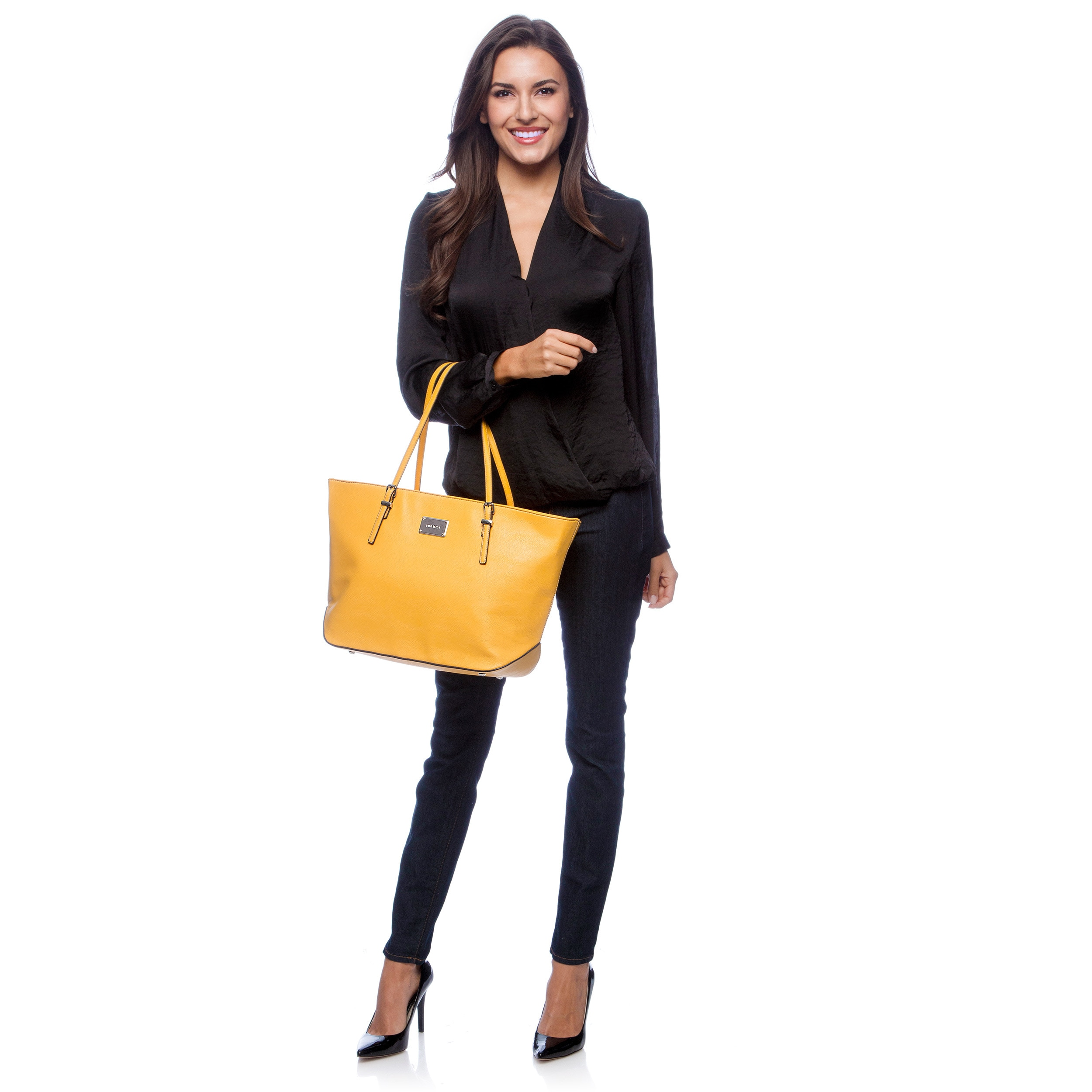 9158ebbb9ded Shop Nine West  It Girl  Large Tote Handbag - Free Shipping On Orders Over   45 - Overstock - 7628515