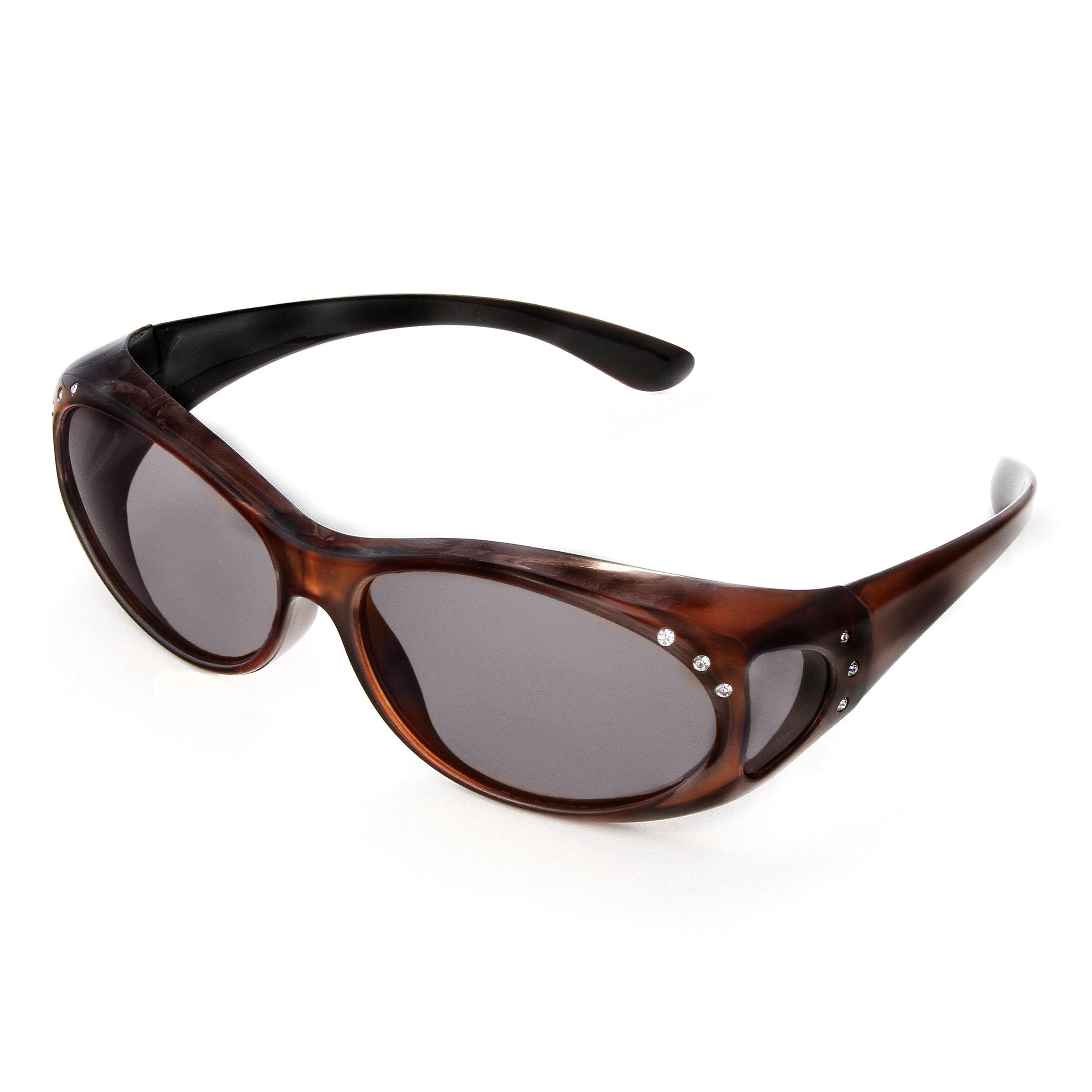 Hot Optix Women\'s Jeweled Over-the-glass Polarized Sunglasses - Free ...