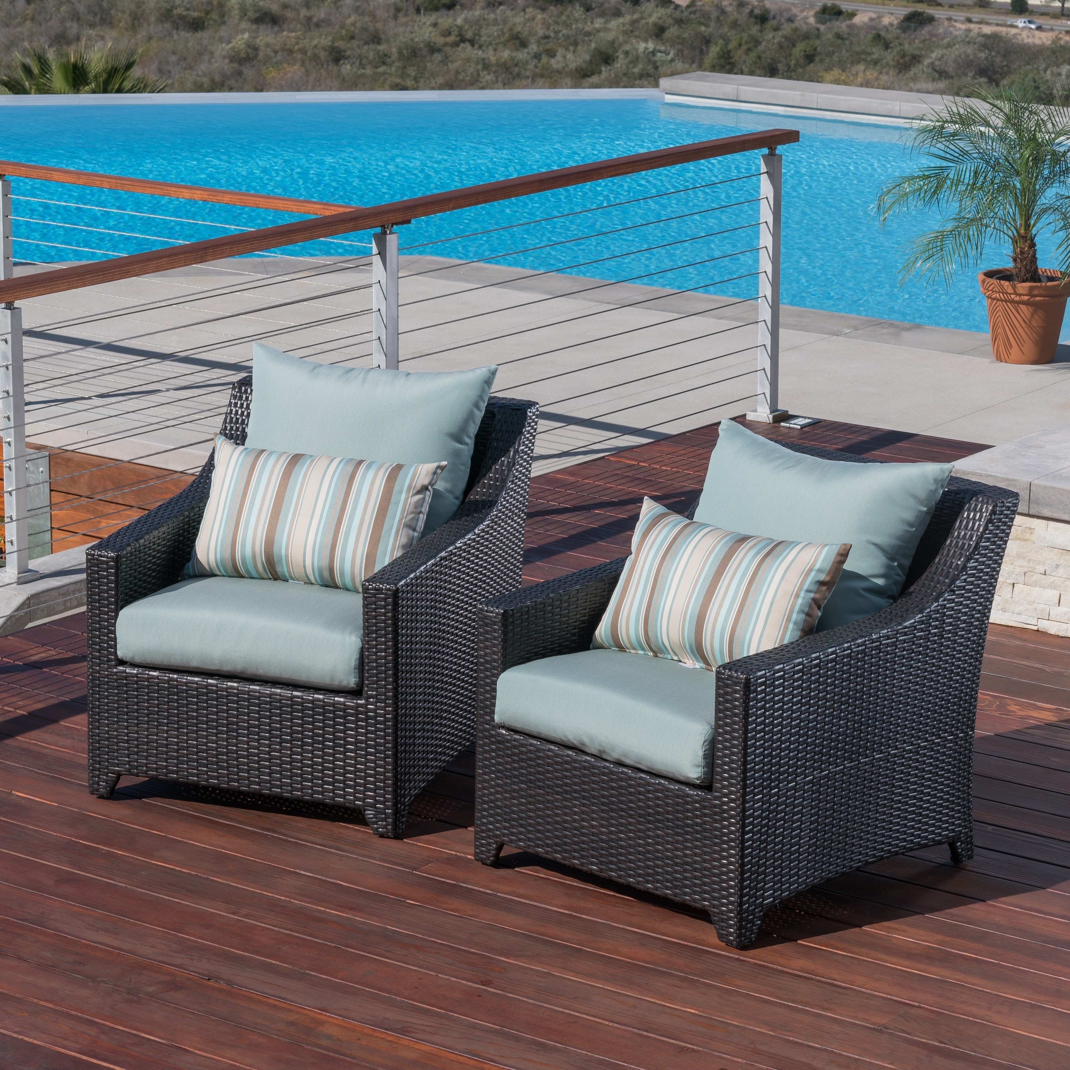 Rst Brands Bliss Patio Furniture Club Chairs Set Of 2 Free Shipping Today 7630425