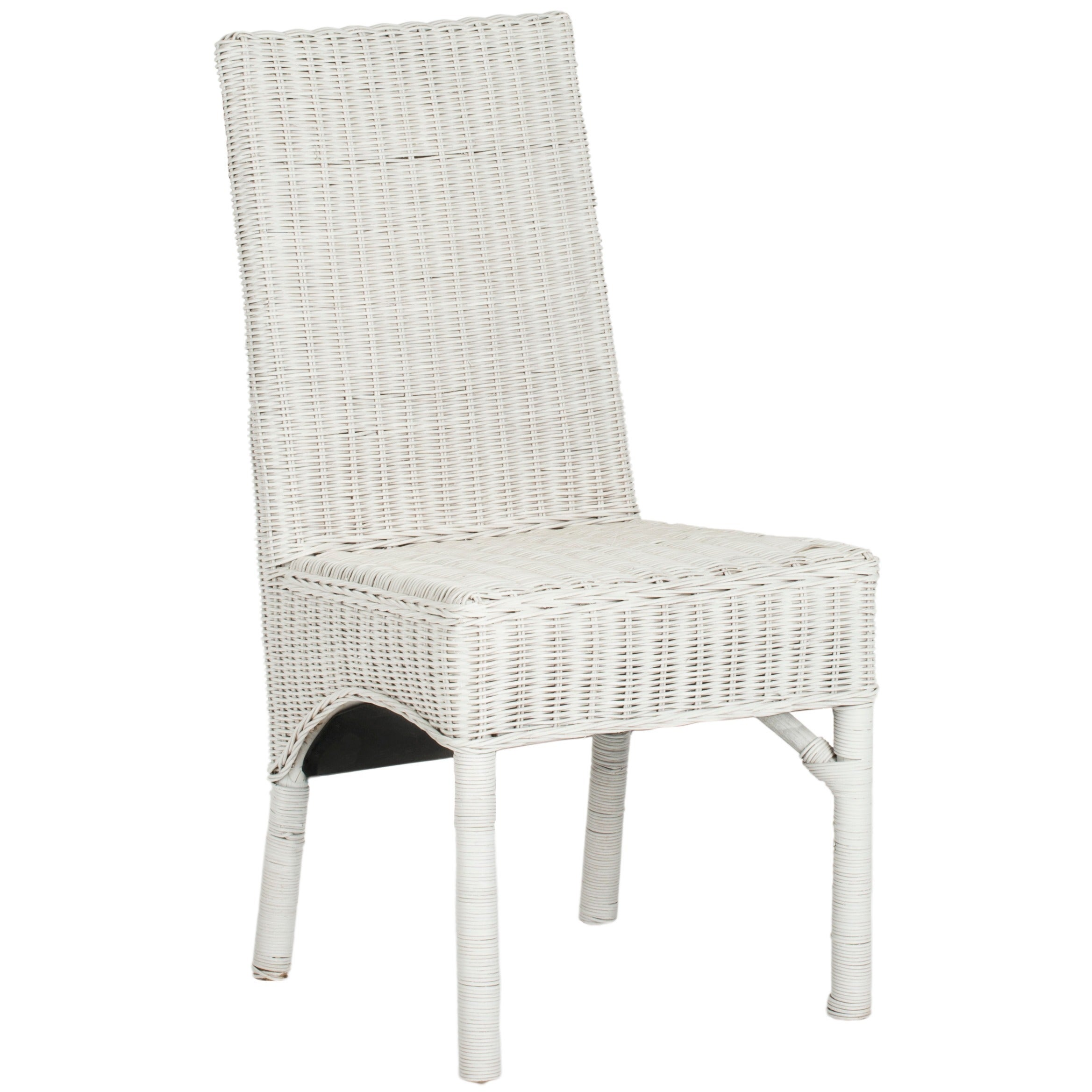 Shop safavieh rural woven dining sommerset white kubu wicker dining chairs set of 2 on sale free shipping today overstock com 7634035