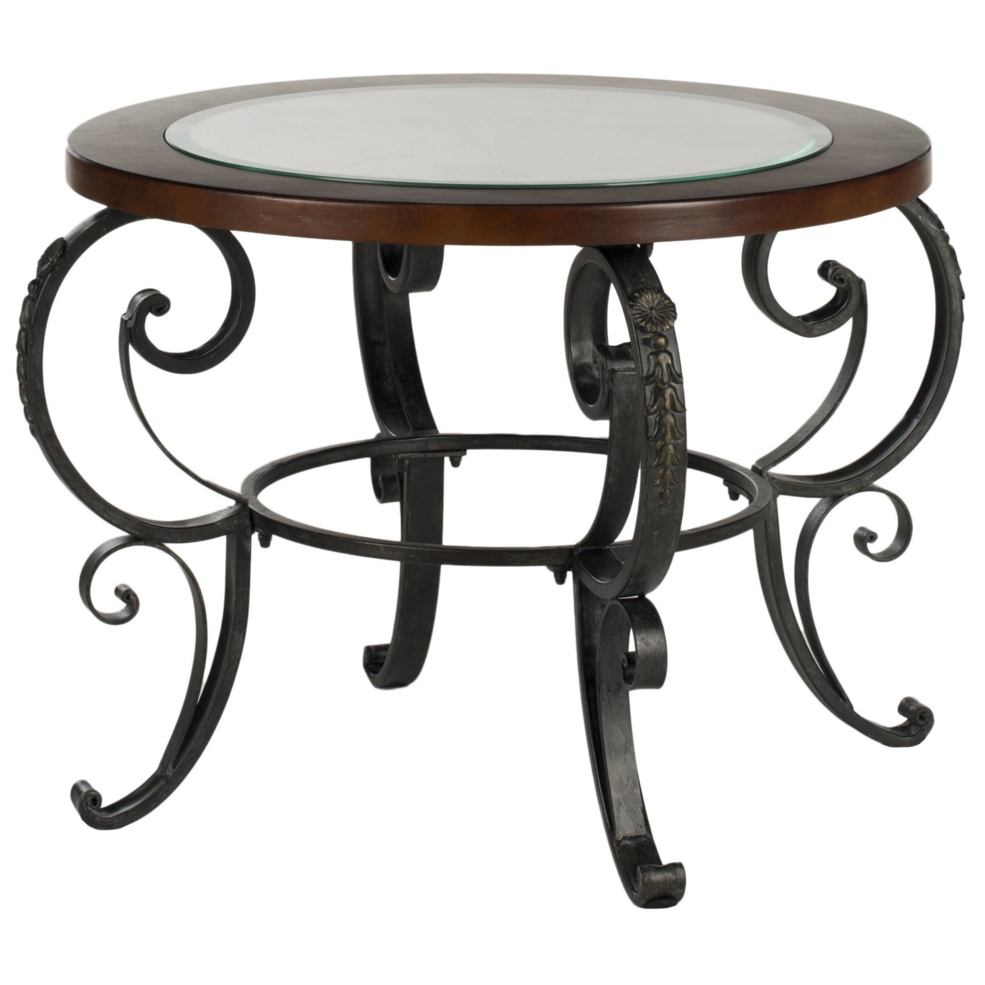 Shop Safavieh Linda Clock Top Dark Brown Side Table   On Sale   Free  Shipping Today   Overstock.com   7634093