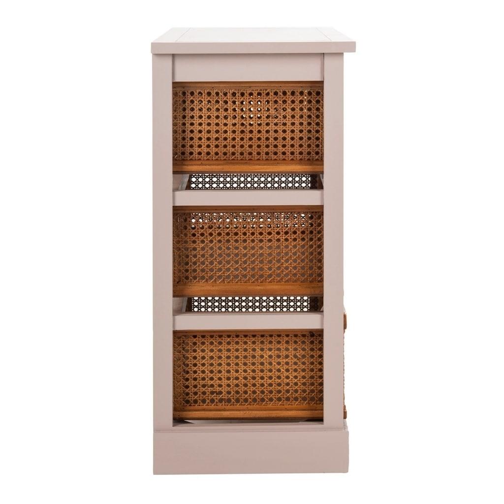 Shop Safavieh Jackson Grey 4-drawer Wicker Basket Storage Unit - Free Shipping Today - Overstock.com - 7634108  sc 1 st  Overstock.com & Shop Safavieh Jackson Grey 4-drawer Wicker Basket Storage Unit ...