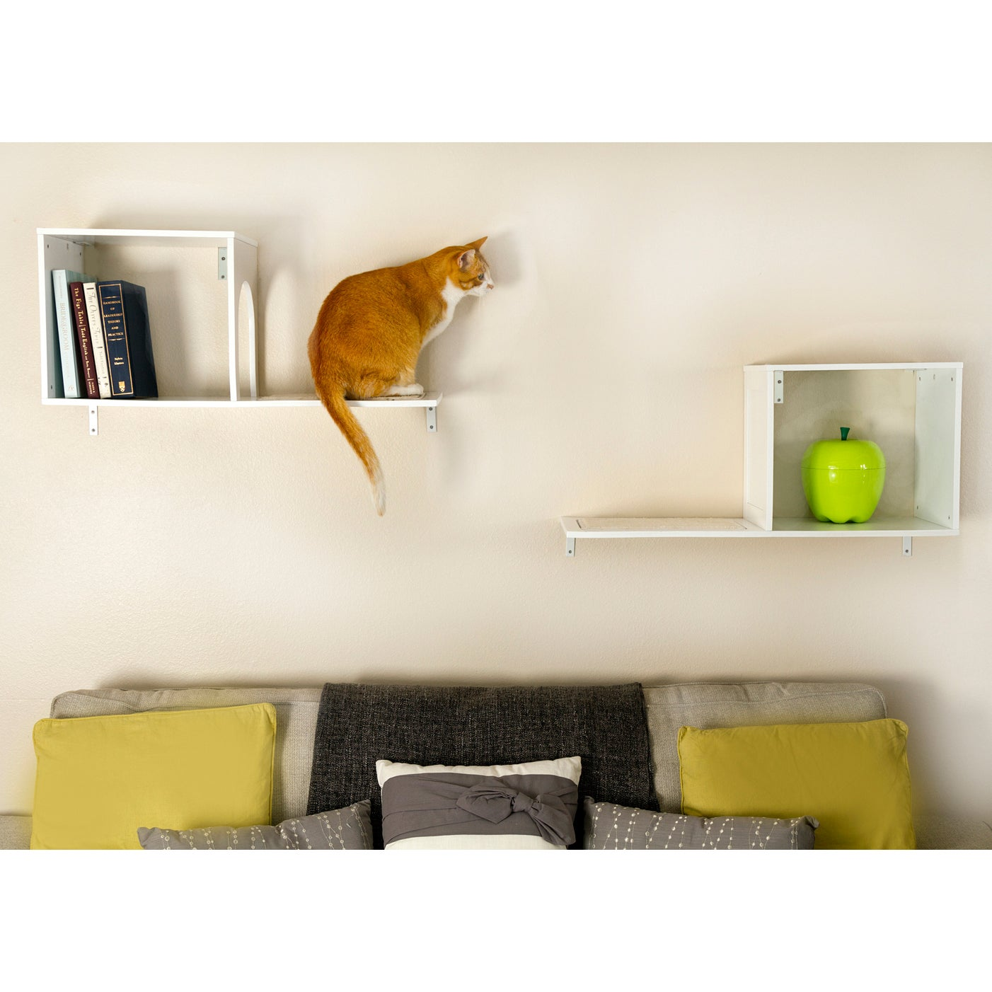 wall mounted cat furniture. The Sophia Wall-Mounted Cat Tree - Free Shipping Today Overstock 15055590 Wall Mounted Furniture T
