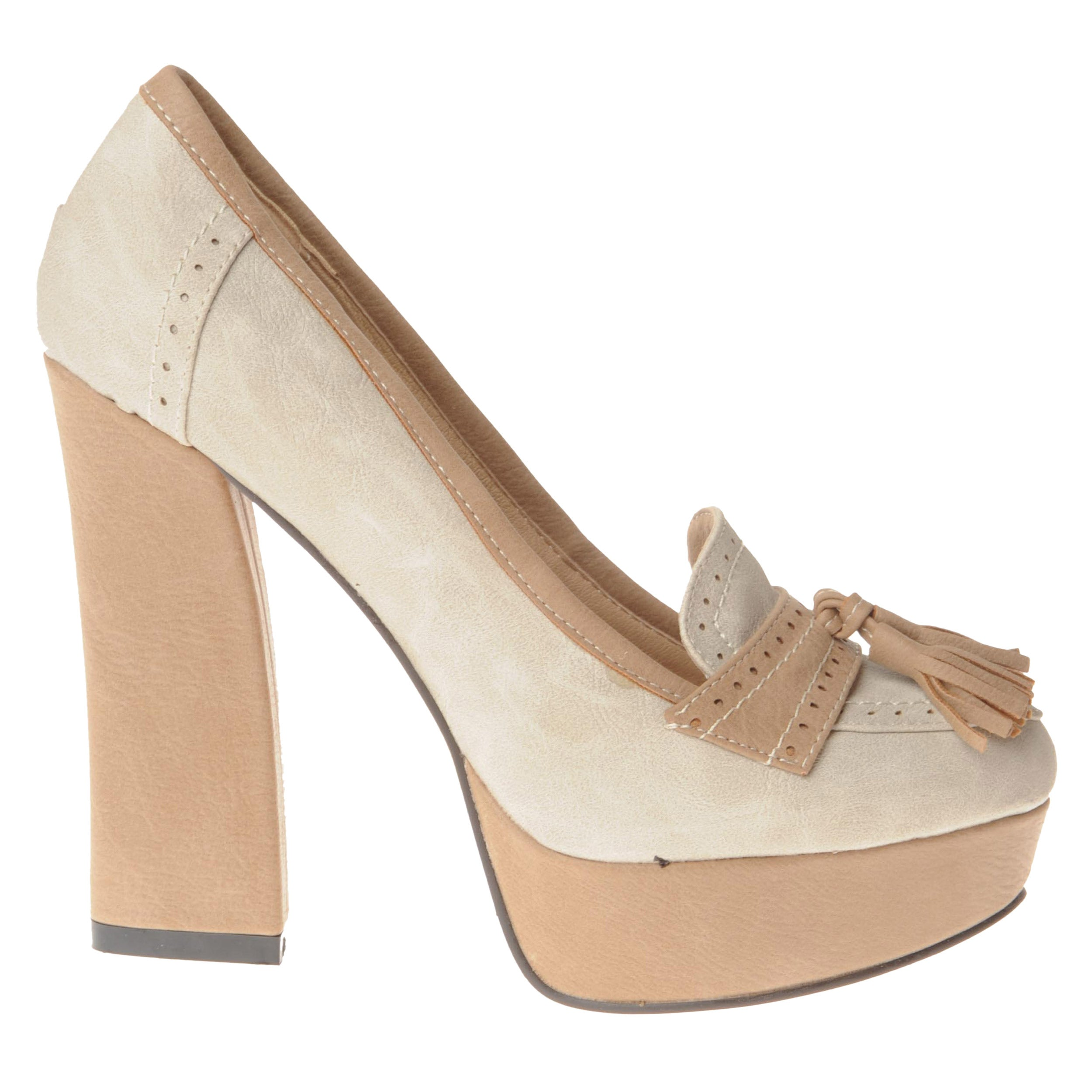 b4f809cb7c Shop Henry Ferrera Women's Loafer Block-heel Pumps - Free Shipping Today -  Overstock - 7641435
