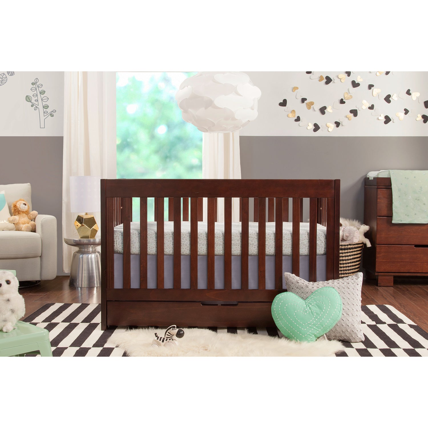 slate crib by babyletto convertible itm conversion modo gray in with cribs hudson kit