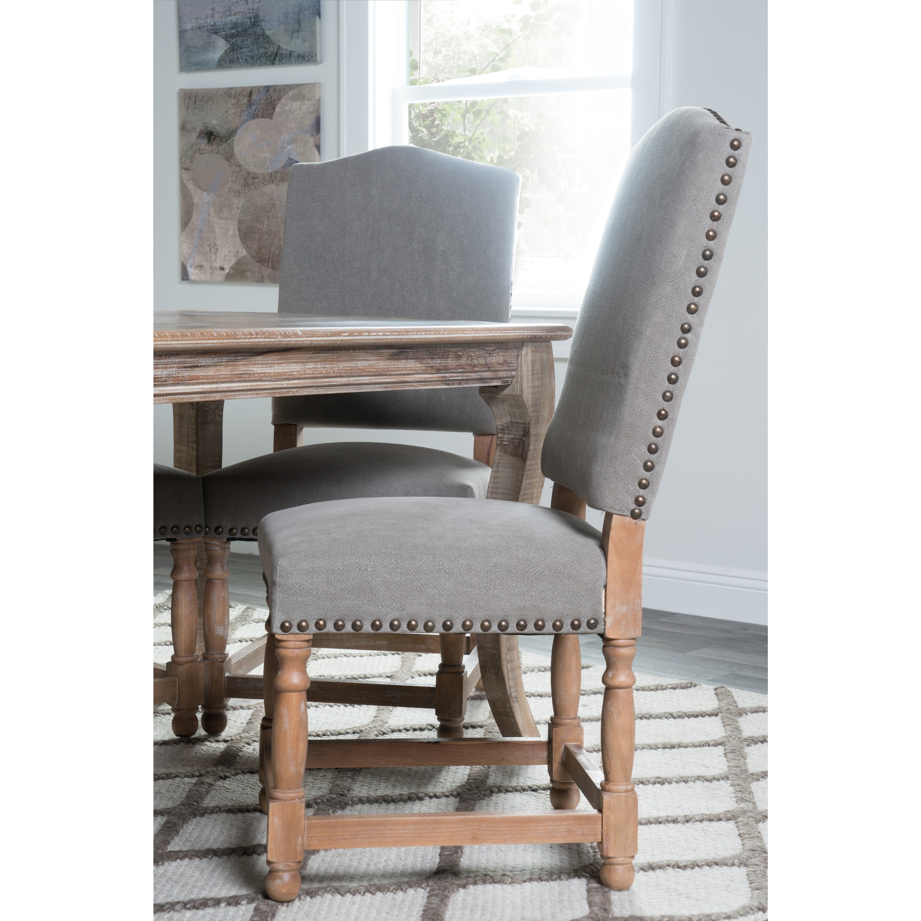 Kosas Home Redford Dining Chair Stone Wash Light Grey Free Shipping Today 7644573