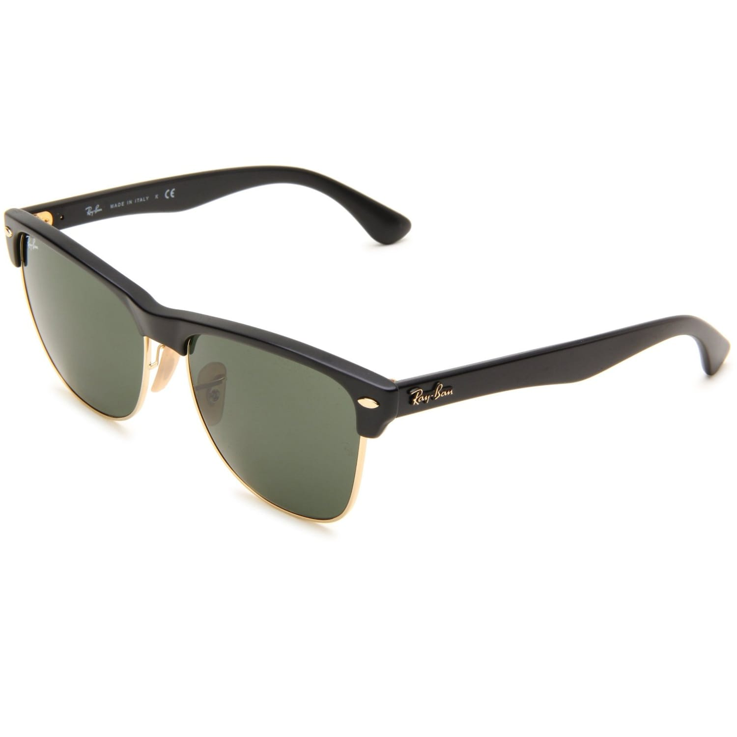 c83bf84975 Shop Ray-Ban Women s  Clubmaster  Matte Black Wayfarer Sunglasses - Free  Shipping Today - Overstock - 7647381