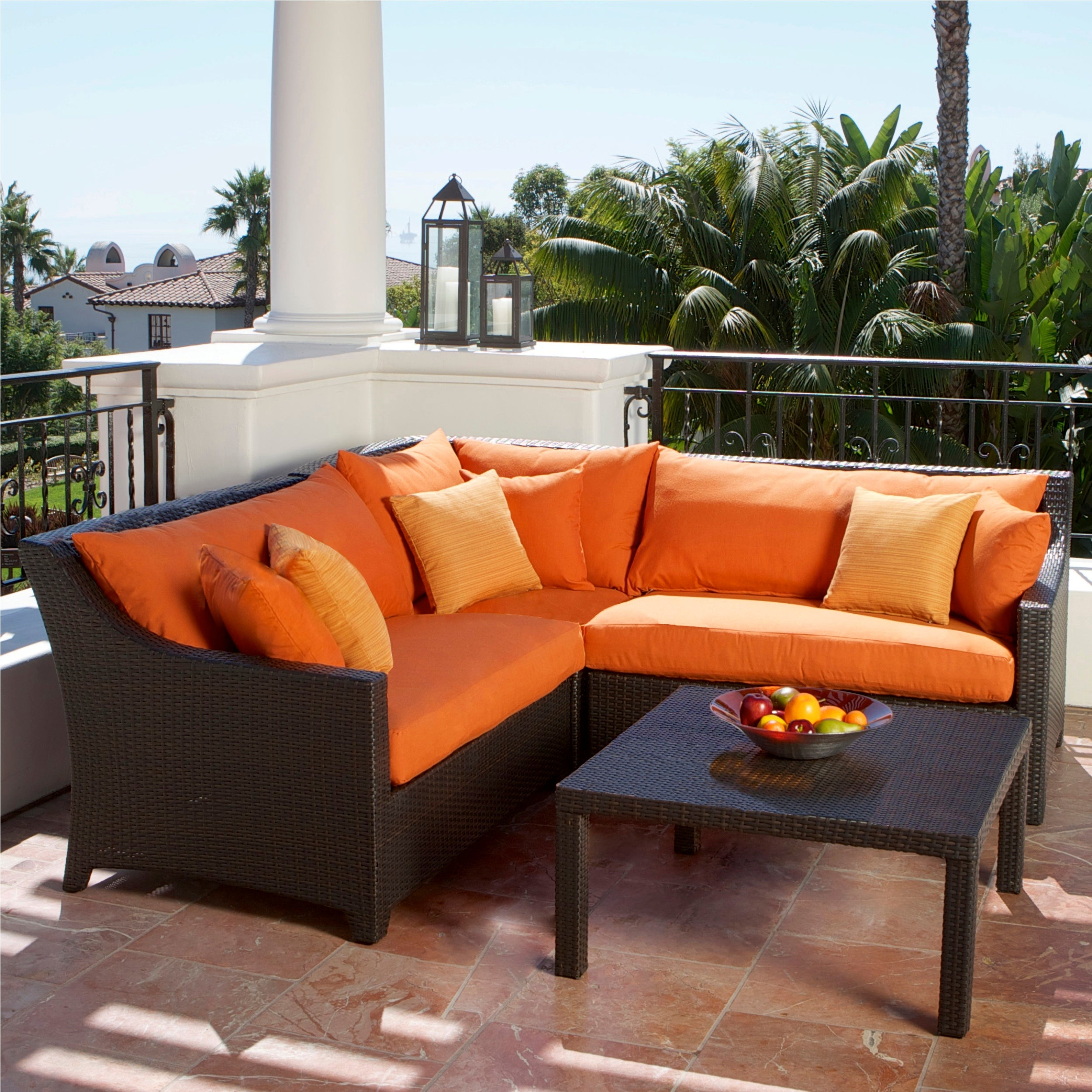Rst Outdoor Tikka 4 Piece Corner Sectional Sofa And Coffee Table Patio Furniture Set Free Shipping Today 15063915