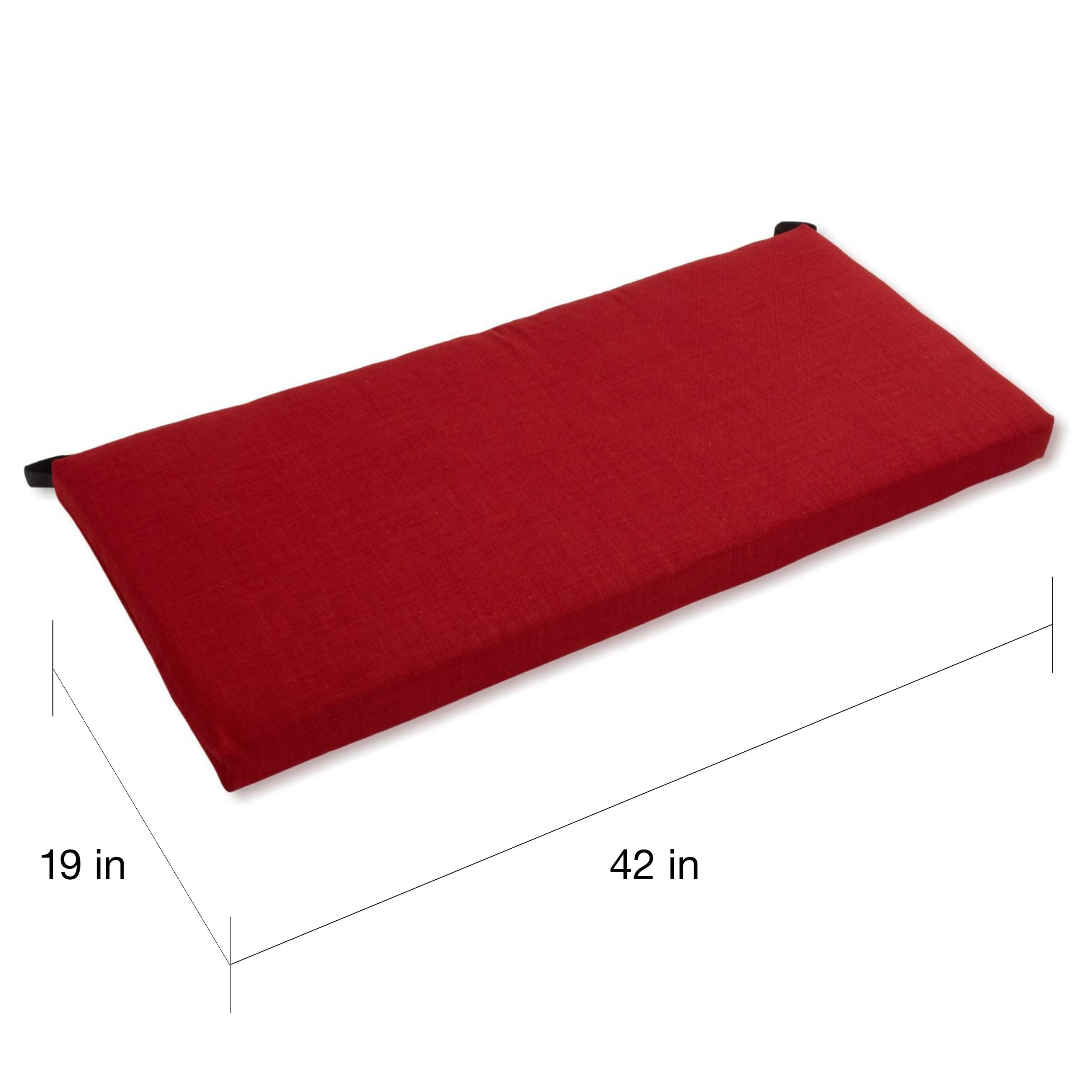 Shop Blazing Needles All Weather 42 Inch Bench Cushion On Sale
