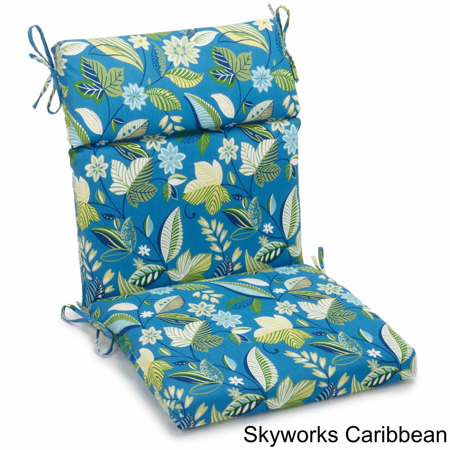 Blazing Needles Outdoor 3 Section Chair Cushion   Free Shipping Today    Overstock   15065877
