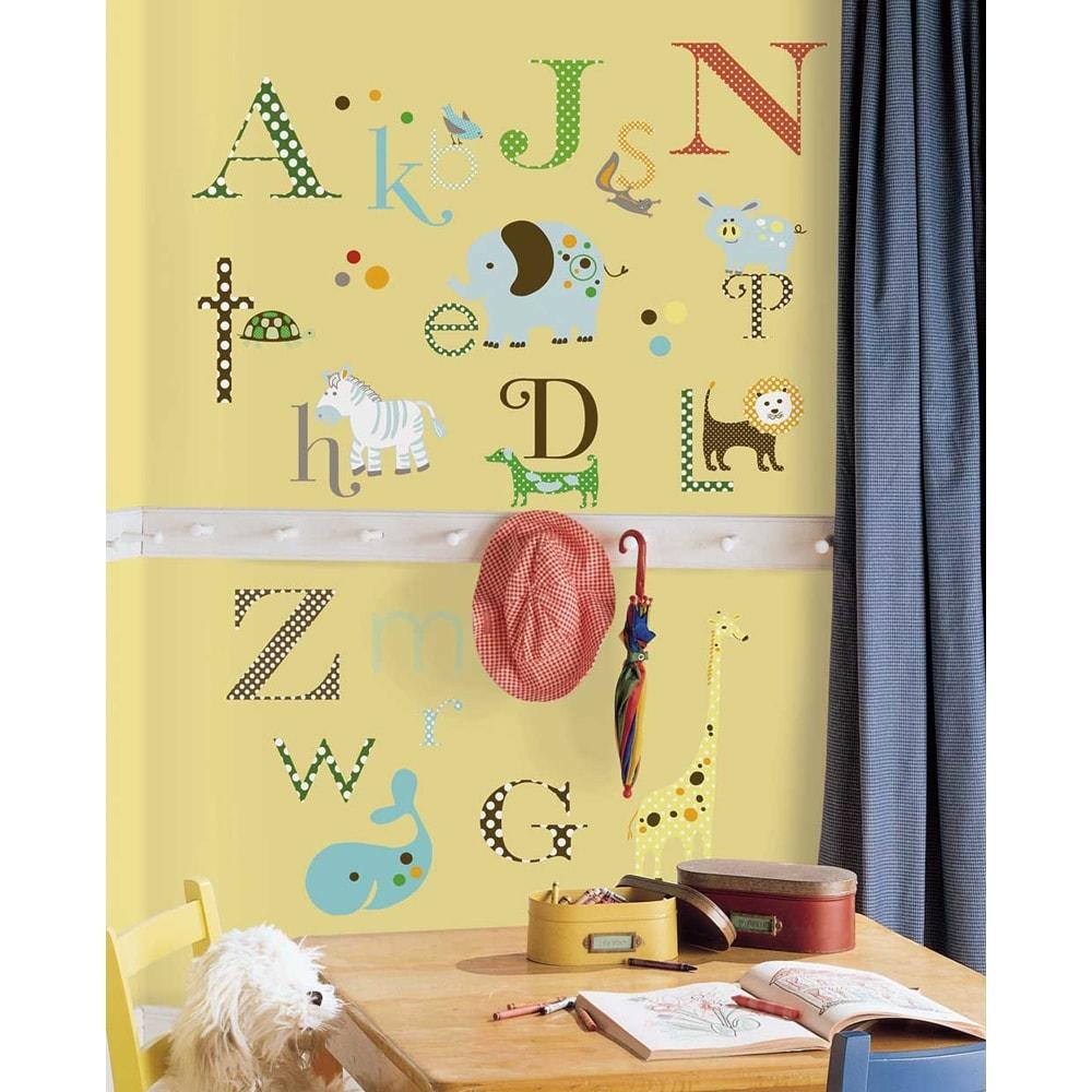 Shop Animal Alphabet Peel & Stick Wall Decal Art - Free Shipping On ...