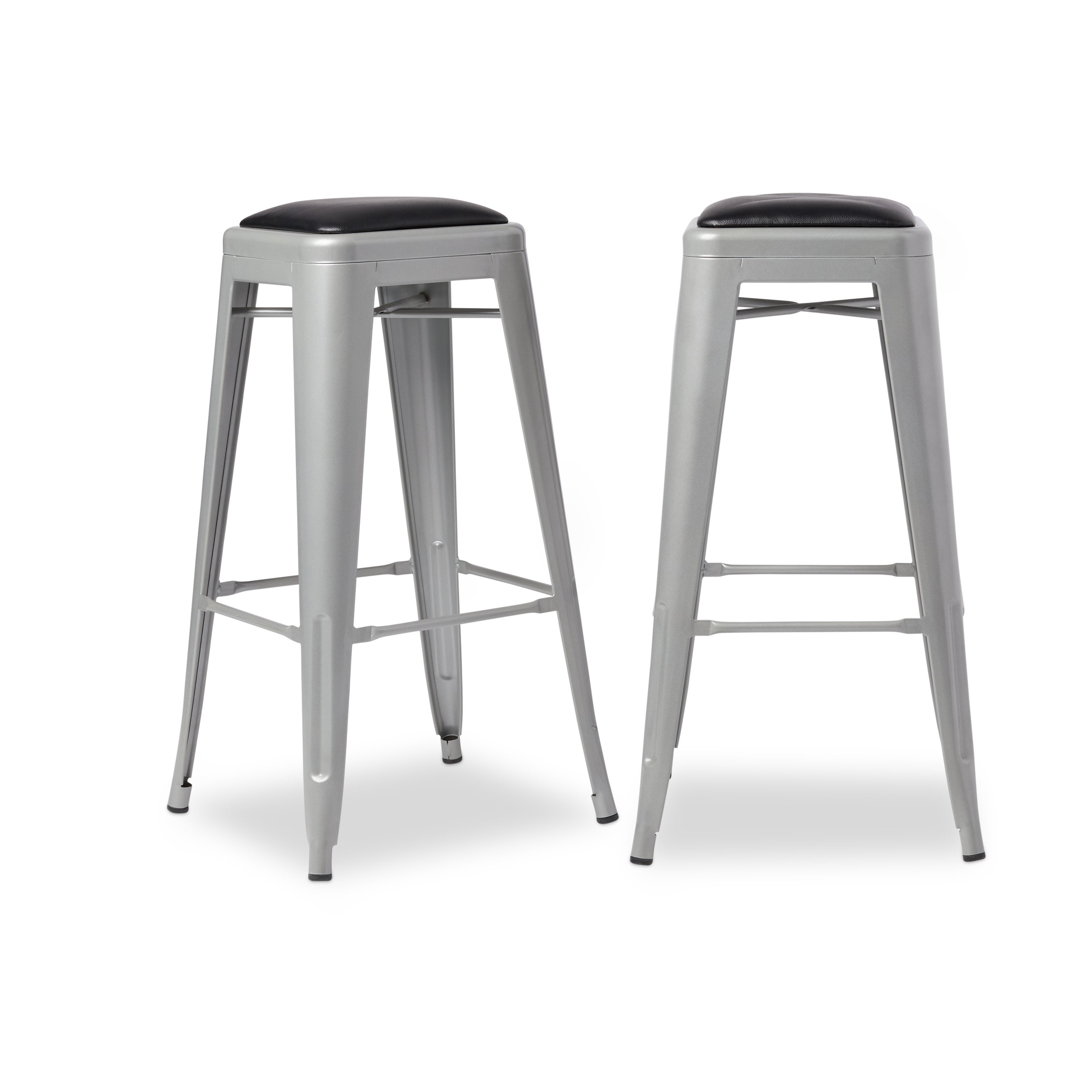 Shop Tabouret 30 Inch Padded Metal Barstools (Set Of 2)   Free Shipping  Today   Overstock.com   7655061