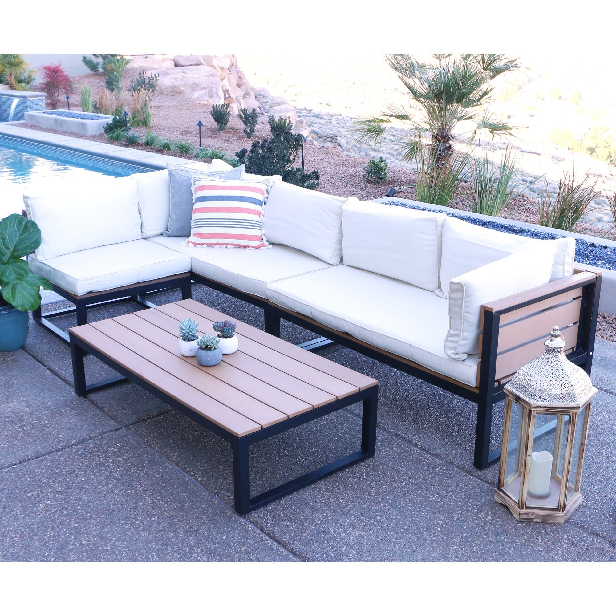 All Weather 4 piece Patio Conversation Set Free Shipping Today
