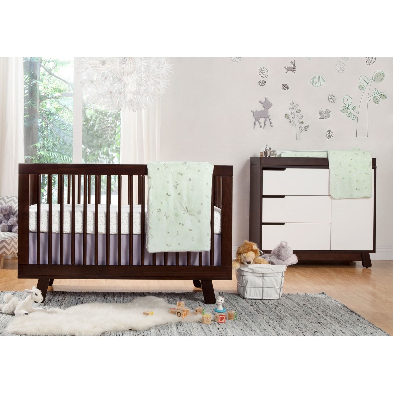 crib cot in pin babyletto grey convertible modo cribs