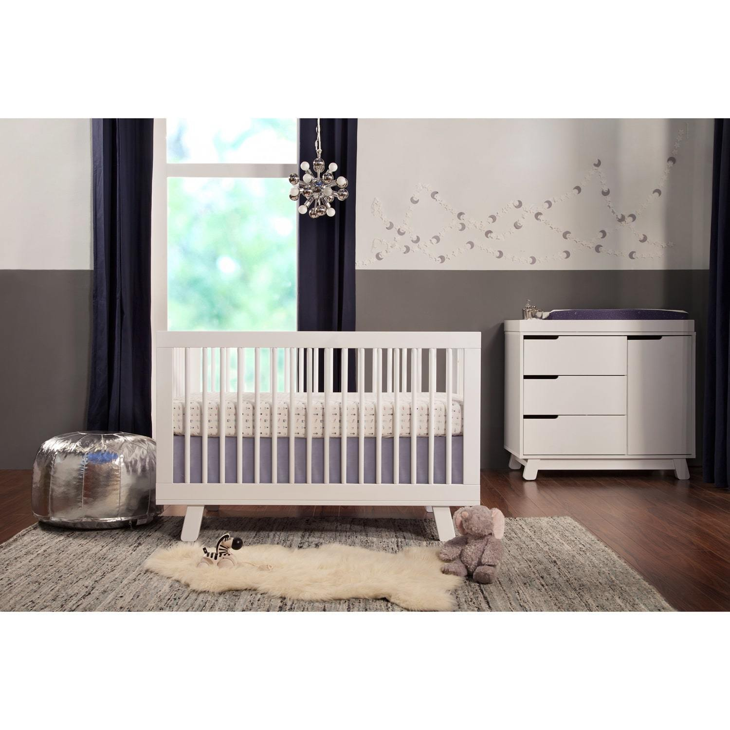 babyletto furniture. Shop Babyletto Hudson 3-in-1 Convertible Crib W/ Toddler Bed Conversion Kit  - Free Shipping Today Overstock.com 7658606 Babyletto Furniture