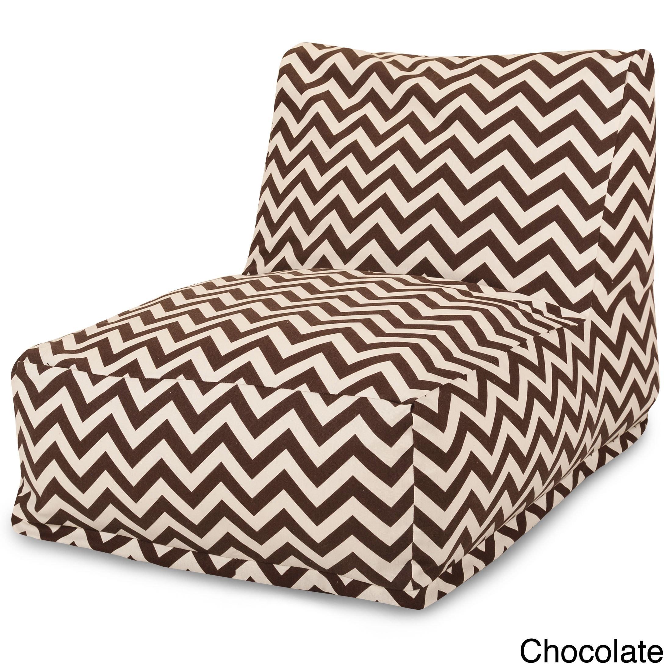 Indoor Outdoor Zig Zag Bean Bag Chair Lounger