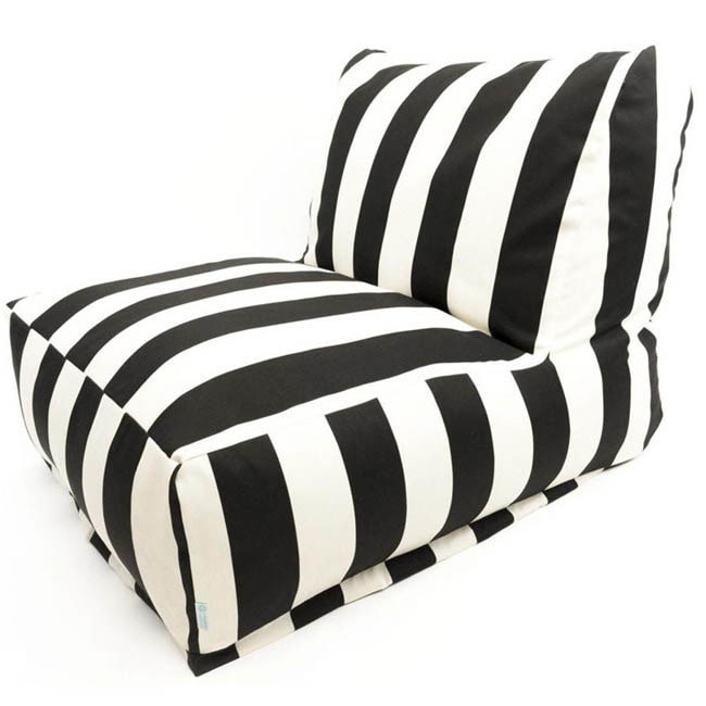 Indoor Outdoor Vertical Stripe Bean Bag Chair Lounger