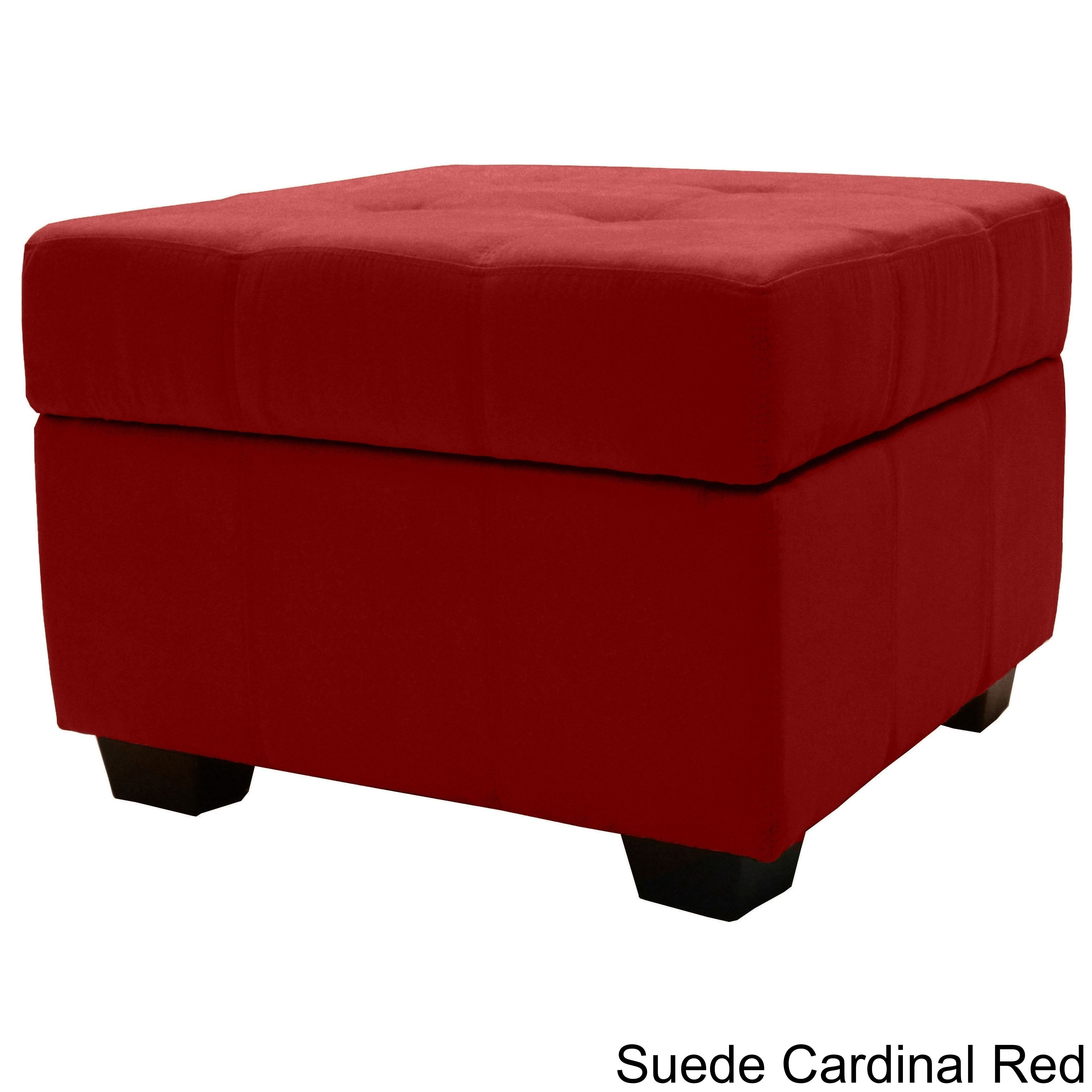 Bon Shop Clay Alder Home Malad Tufted Padded Hinged 24 Inch Square Storage  Ottoman Bench   On Sale   Free Shipping Today   Overstock.com   20528307