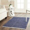 Safavieh Handmade Boston Flatweave Navy Blue Cotton Rug (2'6 x 4')