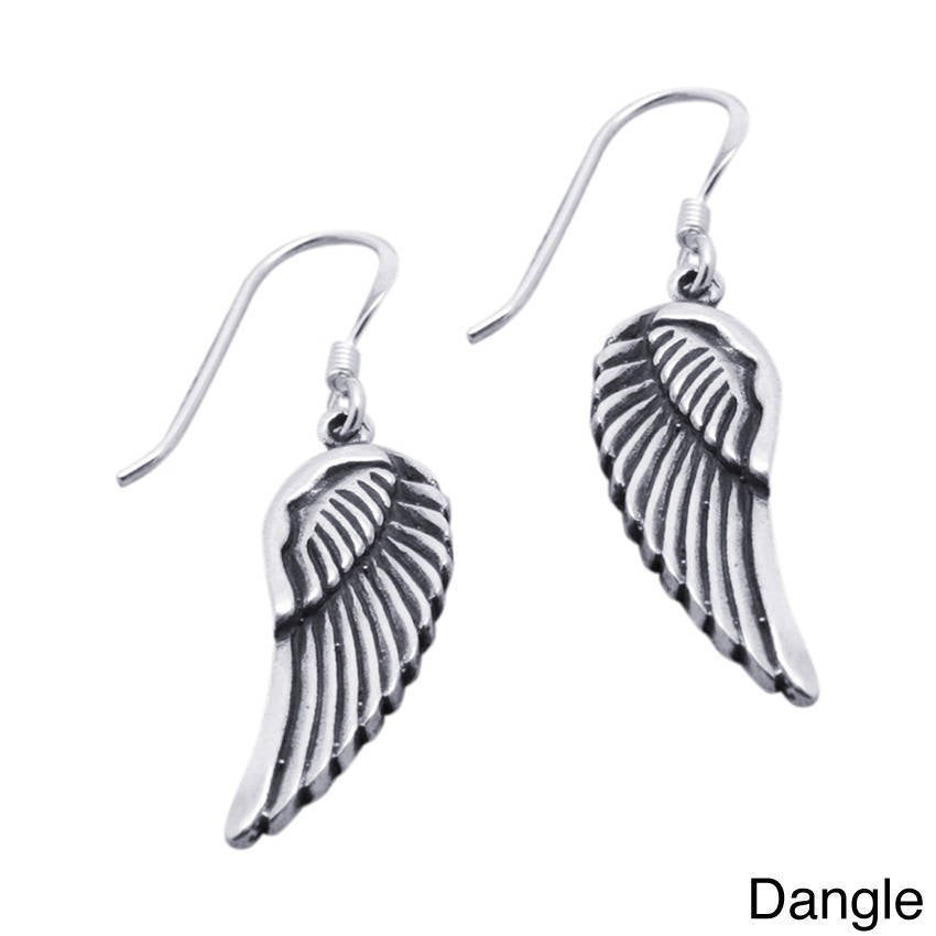 Handmade Sterling Silver Angel Wings Earrings Thailand On Free Shipping Orders Over 45 7672223
