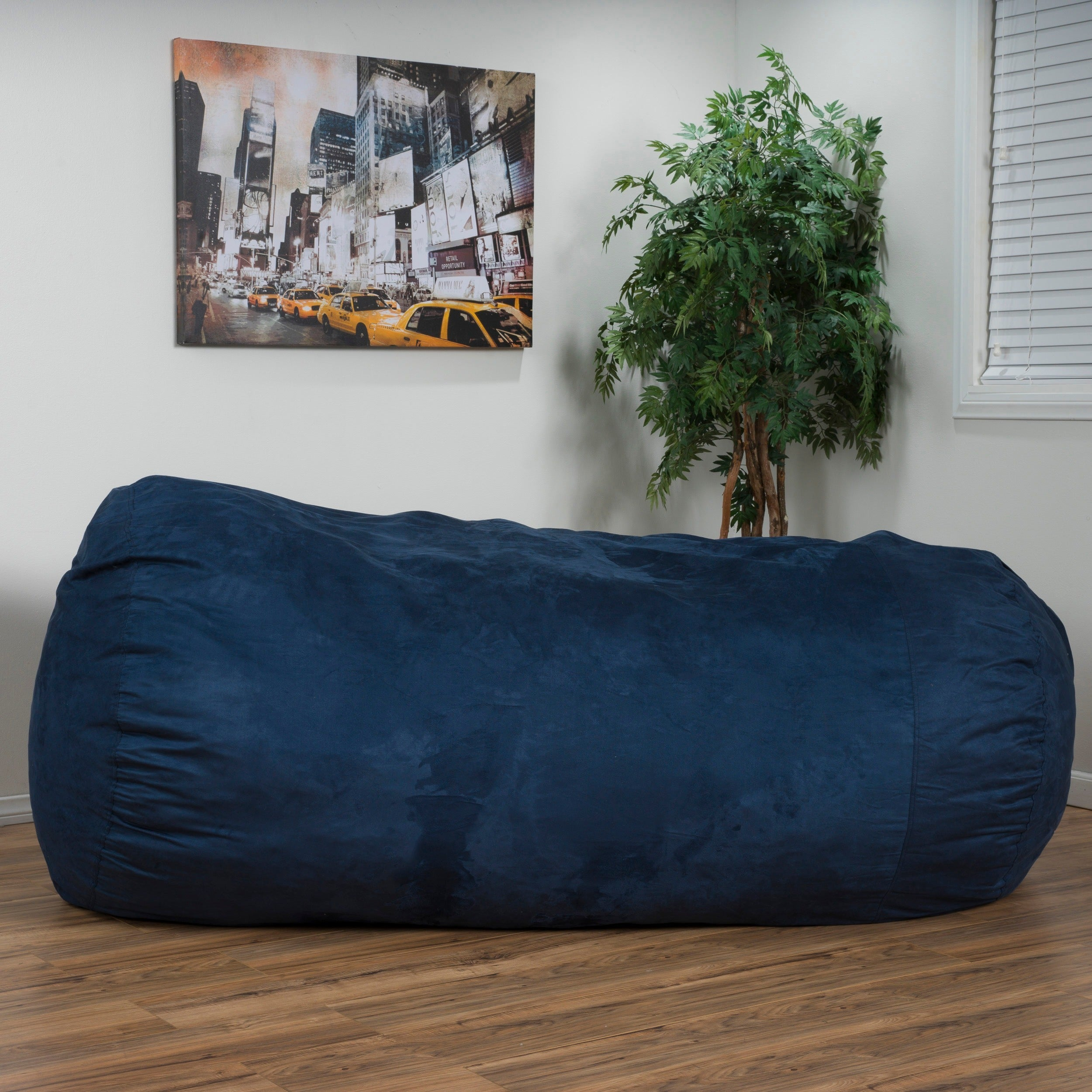 larson faux suede 8 foot lounge beanbag chair by christopher knight home   free shipping today   overstock     15084918 larson faux suede 8 foot lounge beanbag chair by christopher      rh   overstock