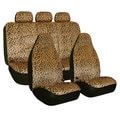 FH Group Leopard Print Velour Airbag Compatible and Split Bench Seat Covers