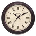 Classic Brown Distressed Cream Oversized 20-inch Clock