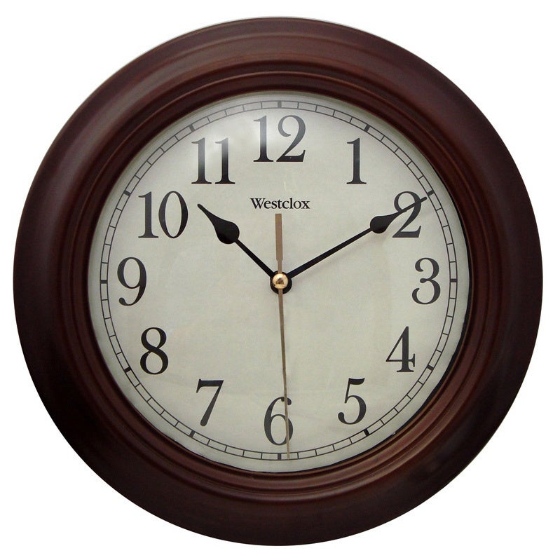 Shop Brown 95 Inch Wall Clock Free Shipping On Orders Over 45