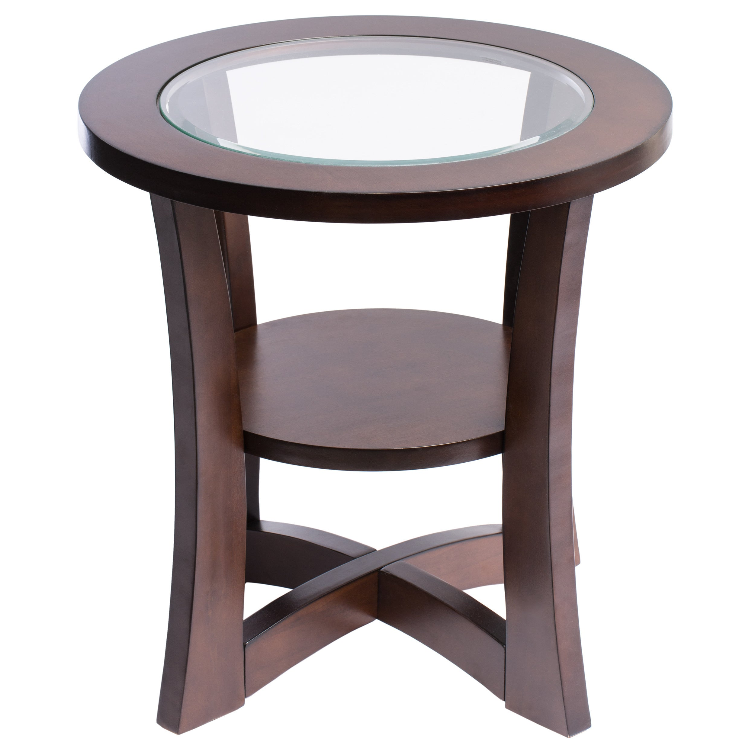Shop Copper Grove Eclipse Espresso Glass Top End Table   Free Shipping  Today   Overstock.com   7685036