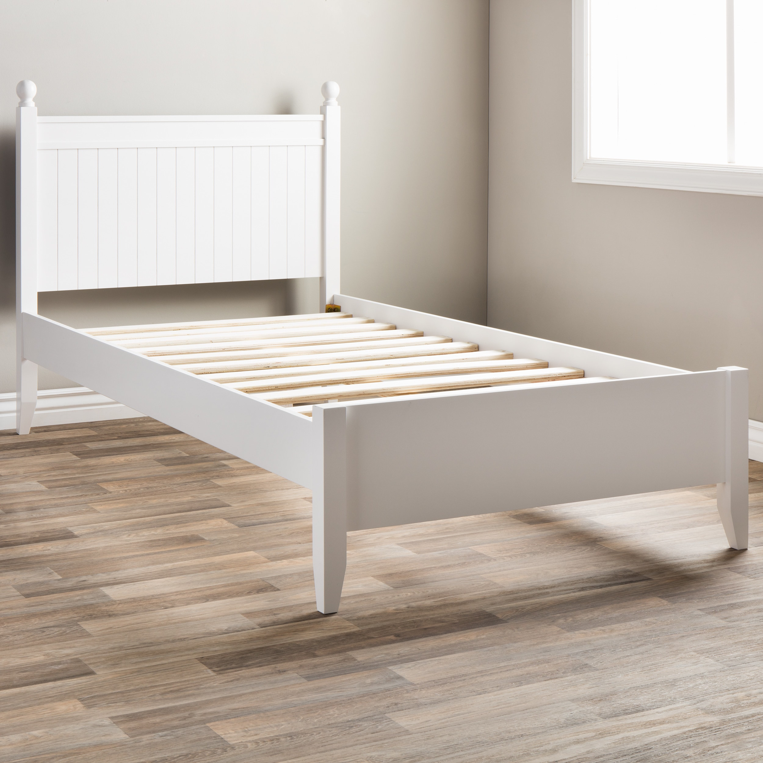 Shop Taylor Olive Catalina White Twin Bed Free Shipping Today