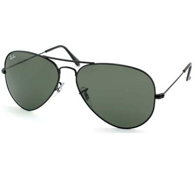 2b394dd0620 Shop Ray-Ban RB3044 Black Small Aviator Sunglasses - Free Shipping Today -  Overstock - 6191353
