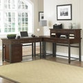 Home Styles Cabin Creek Chestnut Corner 'L' Desk with Hutch and Mobile File