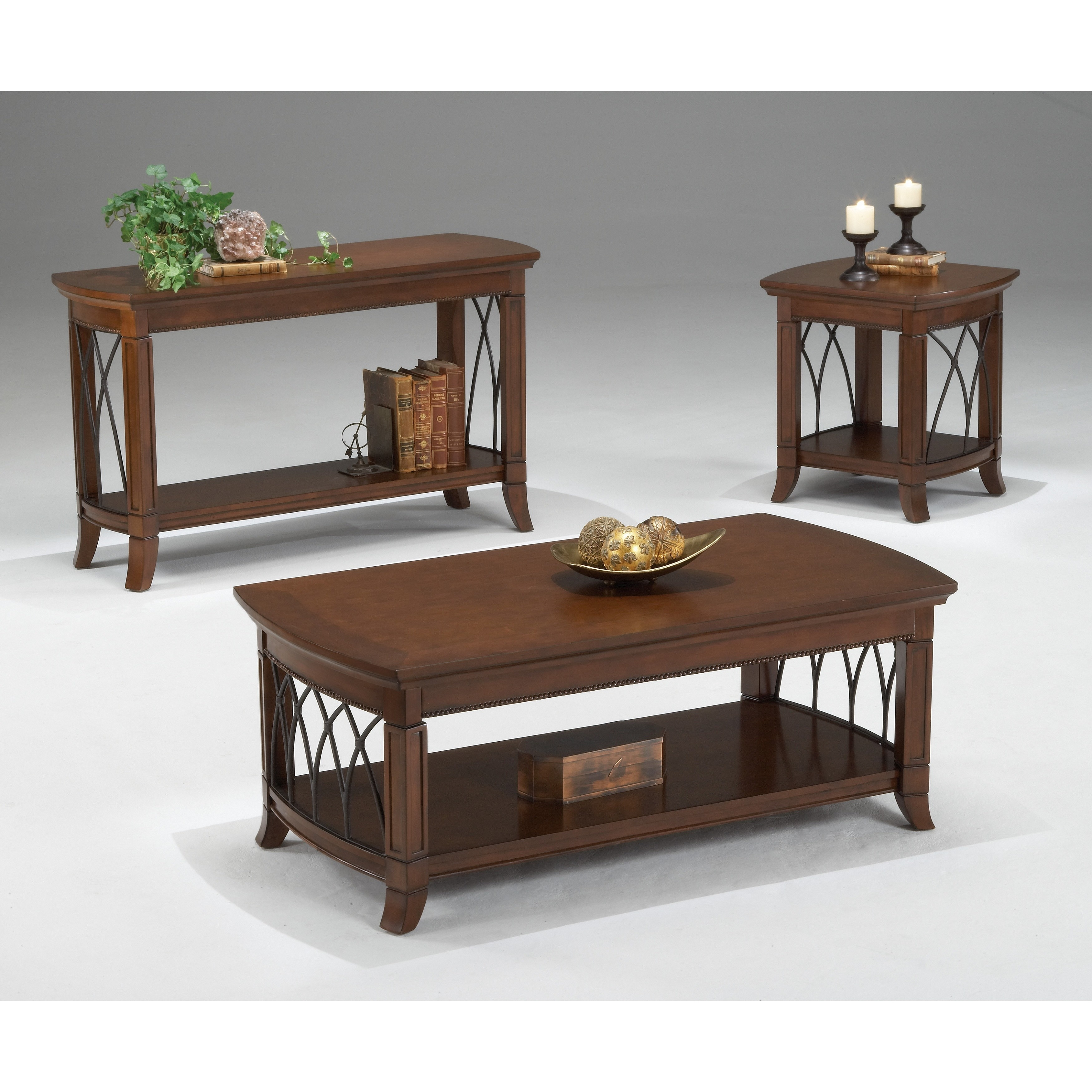 Exceptionnel Shop Cathedral Rectangular Cherry Finish End Table   Free Shipping Today    Overstock.com   7707916