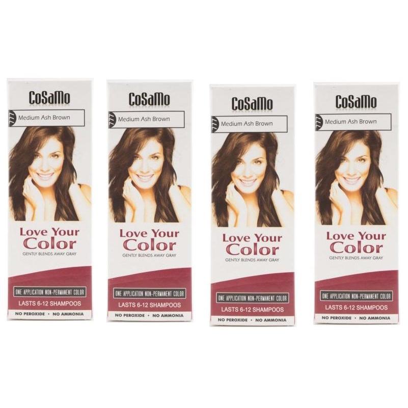 Shop Cosamo Love Your Color Non Permanent 777 Medium Ash Brown Hair