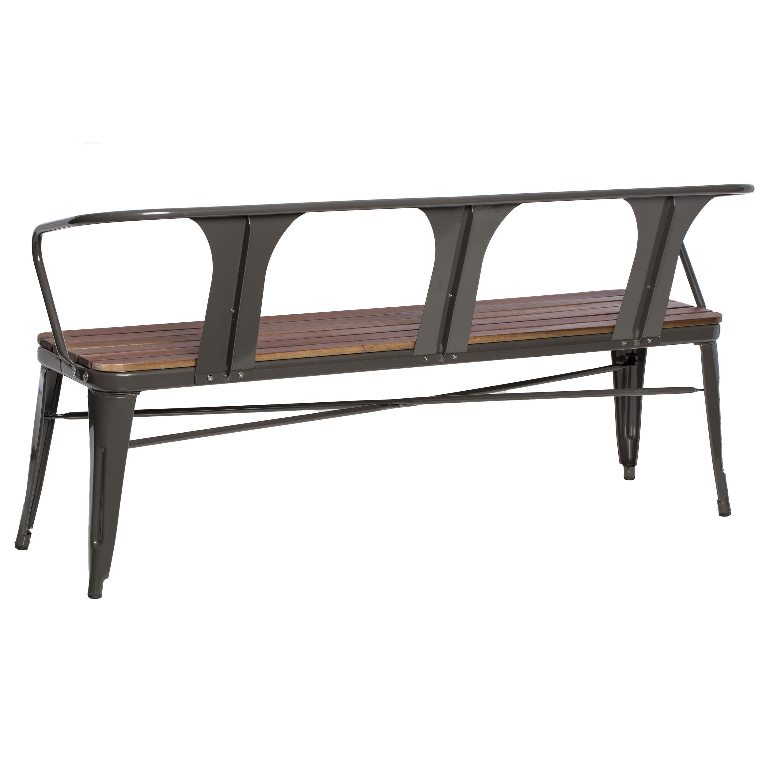 Carbon Loft Jardin Outdoor Steel Frame Bench - Free Shipping Today ...