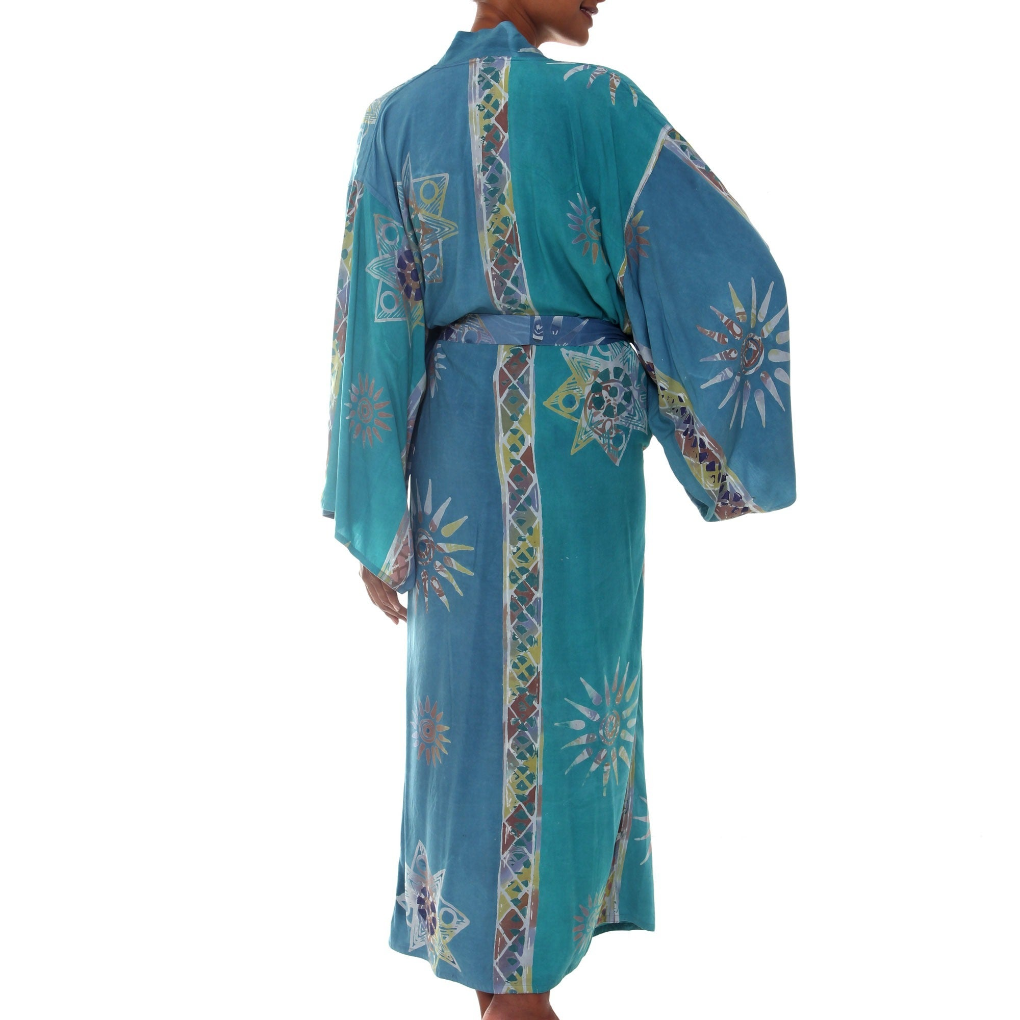0a48aca7e7f Shop Handmade Green Baliku Artisan Designer Women s Clothing Fashion Batik Bath  Robe (Indonesia) - On Sale - Free Shipping Today - Overstock - 7710664