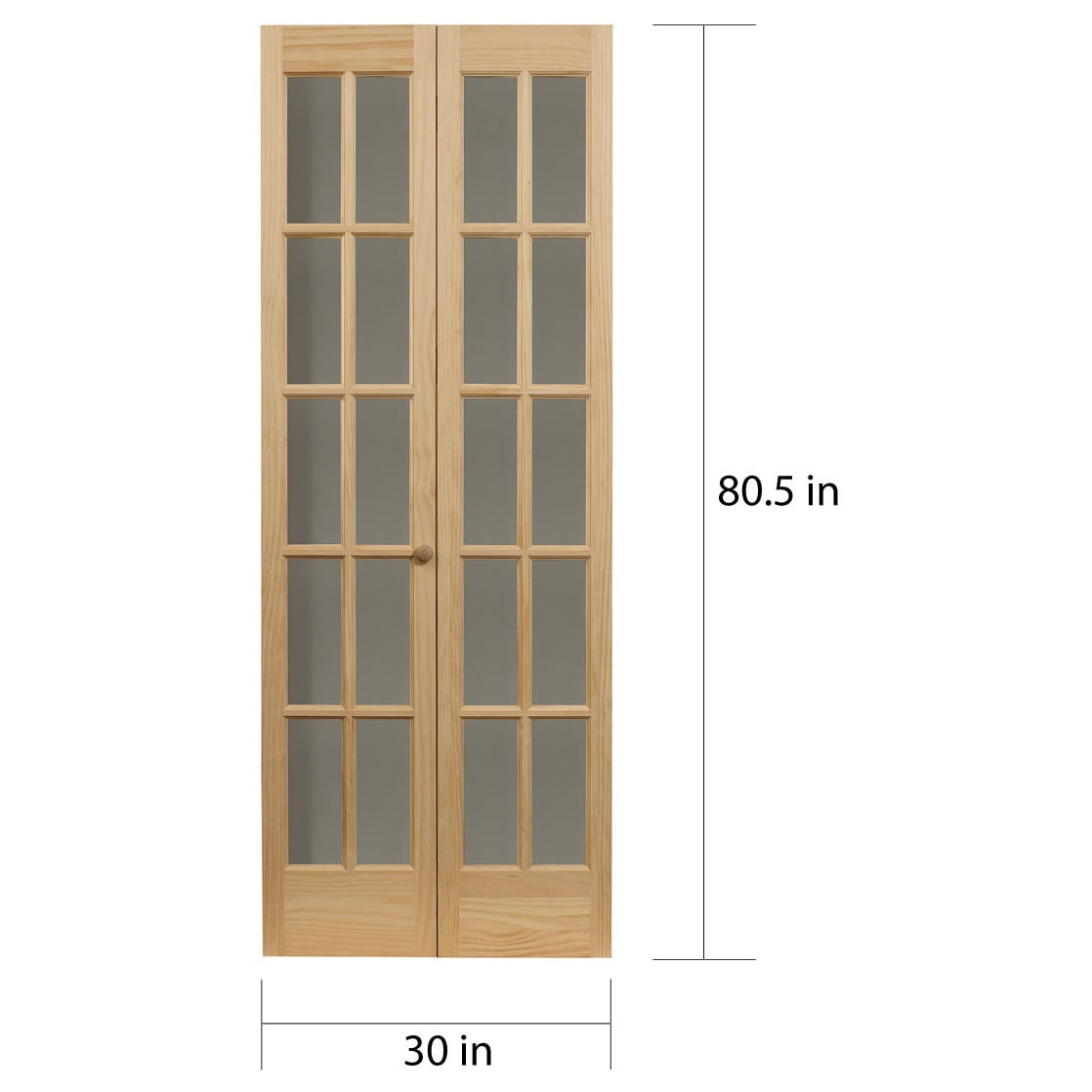Shop Unfinished Divided Glass Bifold Free Shipping Today