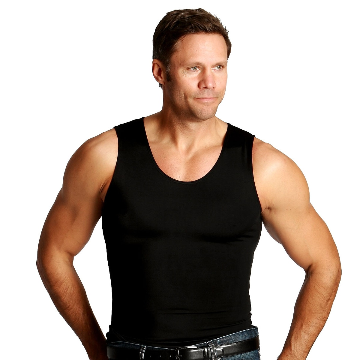 0f5a94bea6bc2 Shop Insta Slim Men s Compression Tank Shirts (Pack of 3) - Free Shipping  Today - Overstock - 7717541