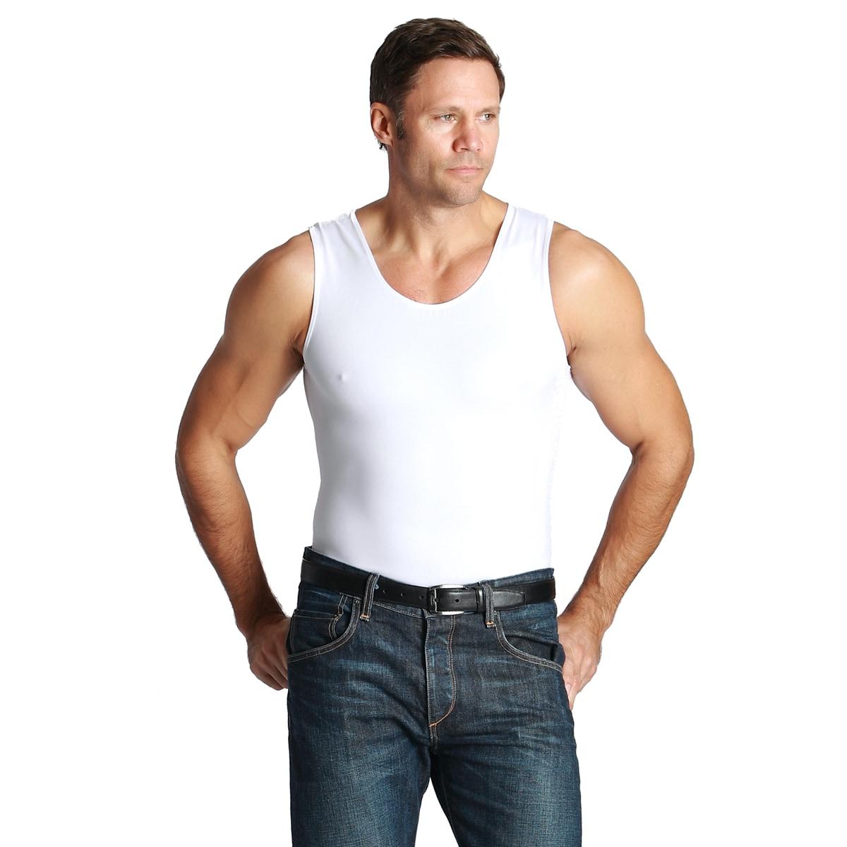 388af9cfaf9e6 Shop Insta Slim Men s Compression Tank Shirts (Pack of 3) - Free Shipping  Today - Overstock - 7717541