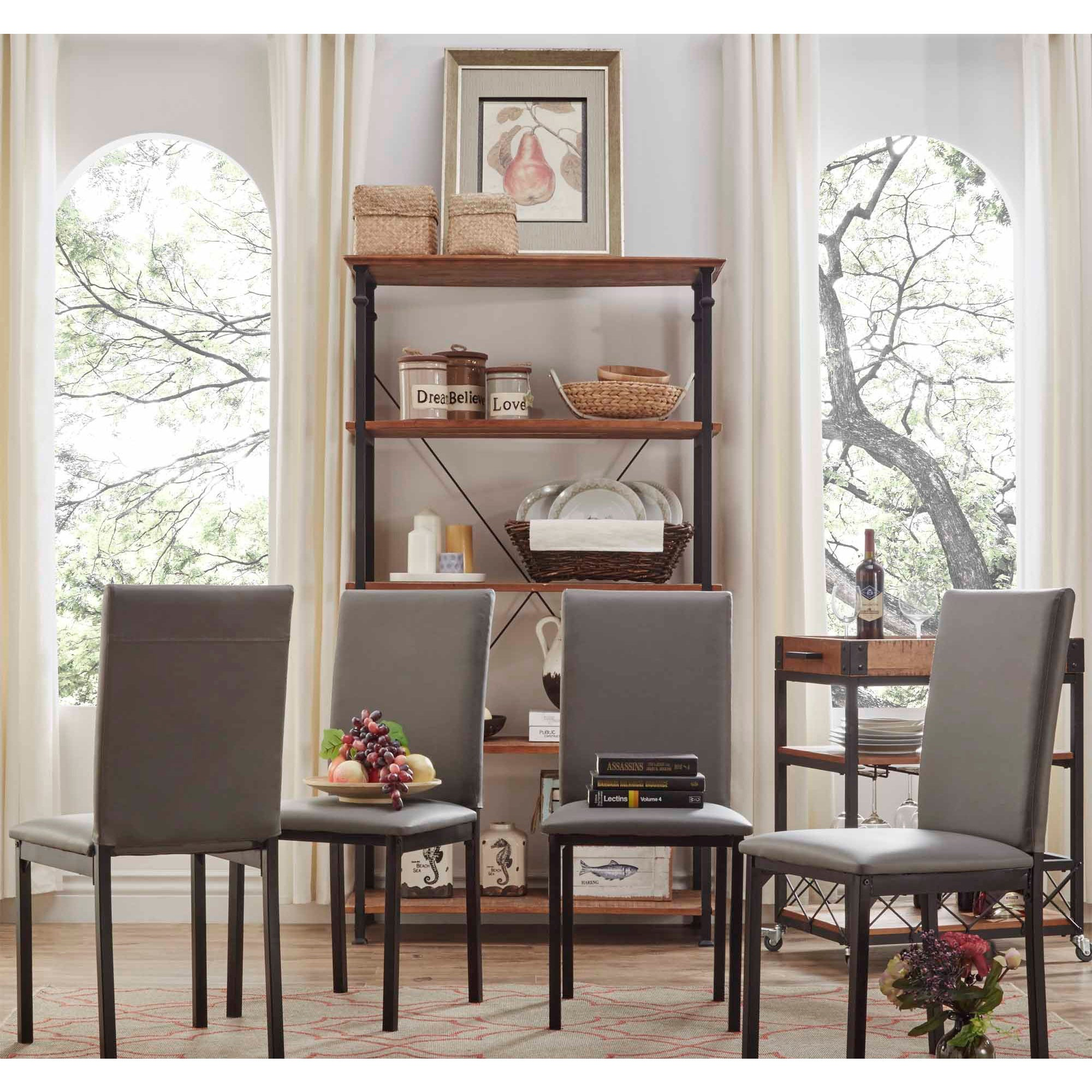 Shop Darcy Metal Upholstered Dining Chair (Set of 4) by iNSPIRE Q ...