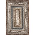 Safavieh Hand-woven Reversible Brown Braided Rug (2'6 x 5')