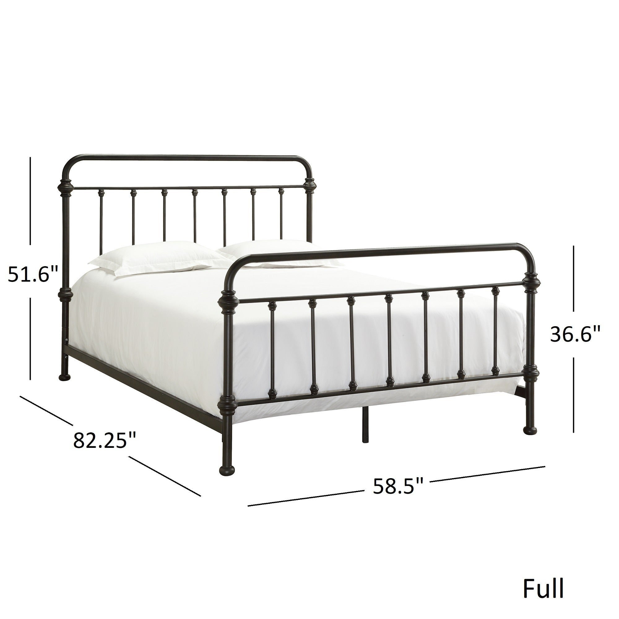 Shop Giselle Antique Graceful Dark Bronze Victorian Iron Bed by ...