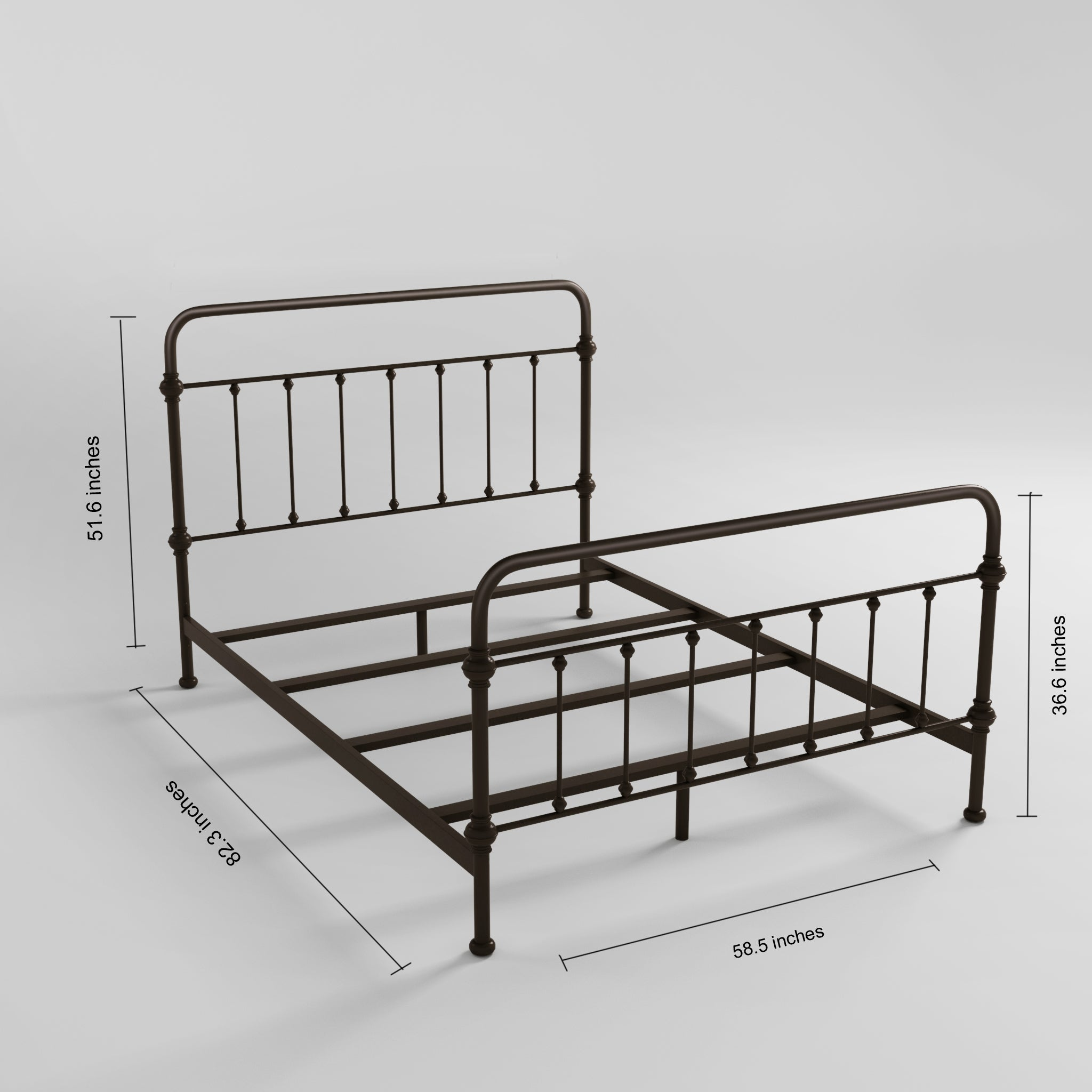 Giselle Antique Graceful Dark Bronze Victorian Iron Bed by iNSPIRE Q  Classic - Free Shipping Today - Overstock.com - 15123764