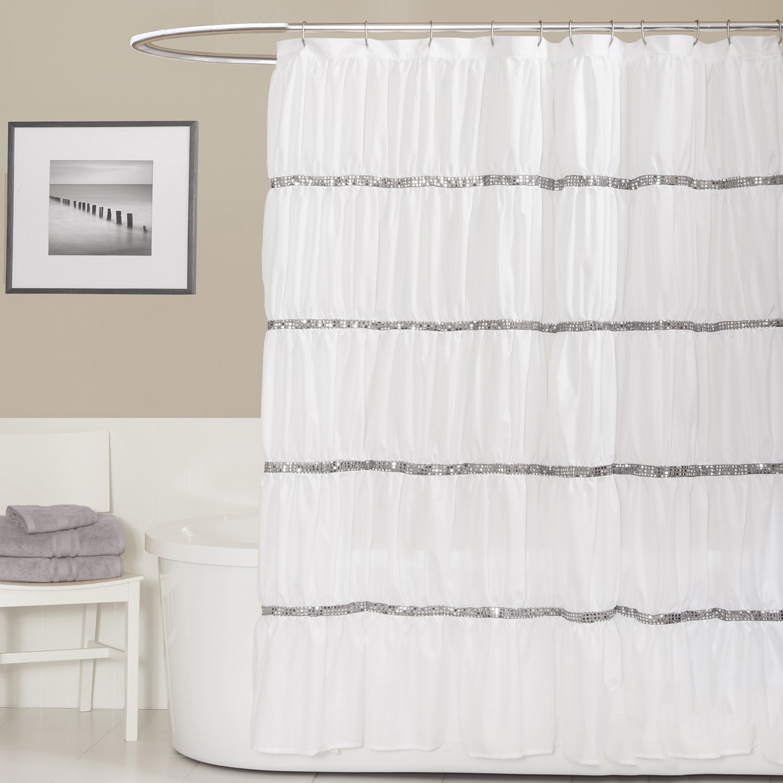 dp com home lucia by white kitchen curtains amazon lush shower decor curtain inch