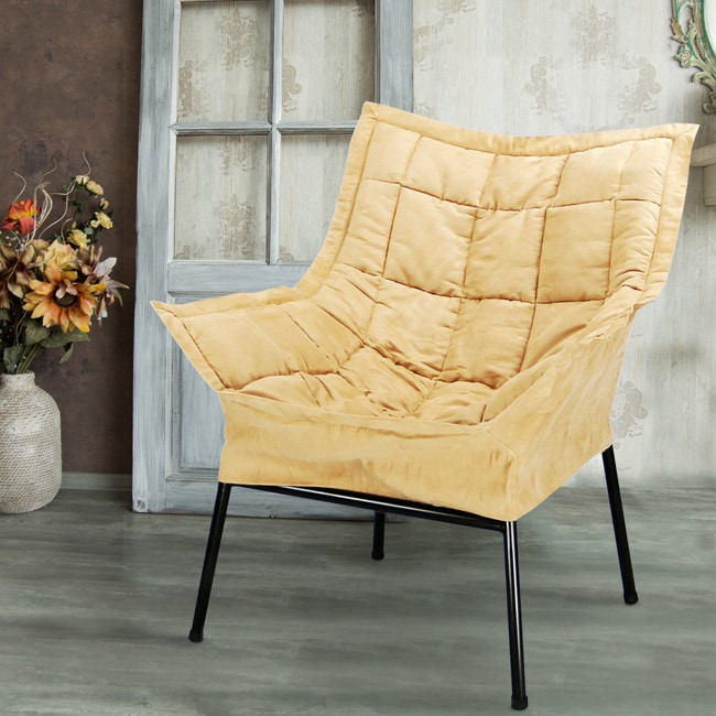 Superb Milano Microsuede Upholstered Lounger Chair   Free Shipping Today    Overstock   15126393