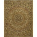 Safavieh Handmade Heritage Timeless Traditional Light Brown/ Grey Wool Rug (9' x 12')