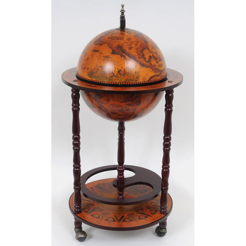 Red Nautical Globe Bar Table On Free Shipping Today 7725180