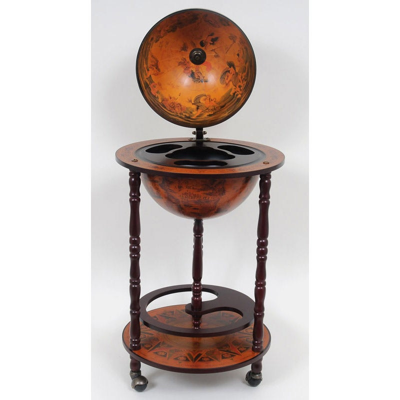 Red Nautical Globe Bar Table Free Shipping Today 15127387