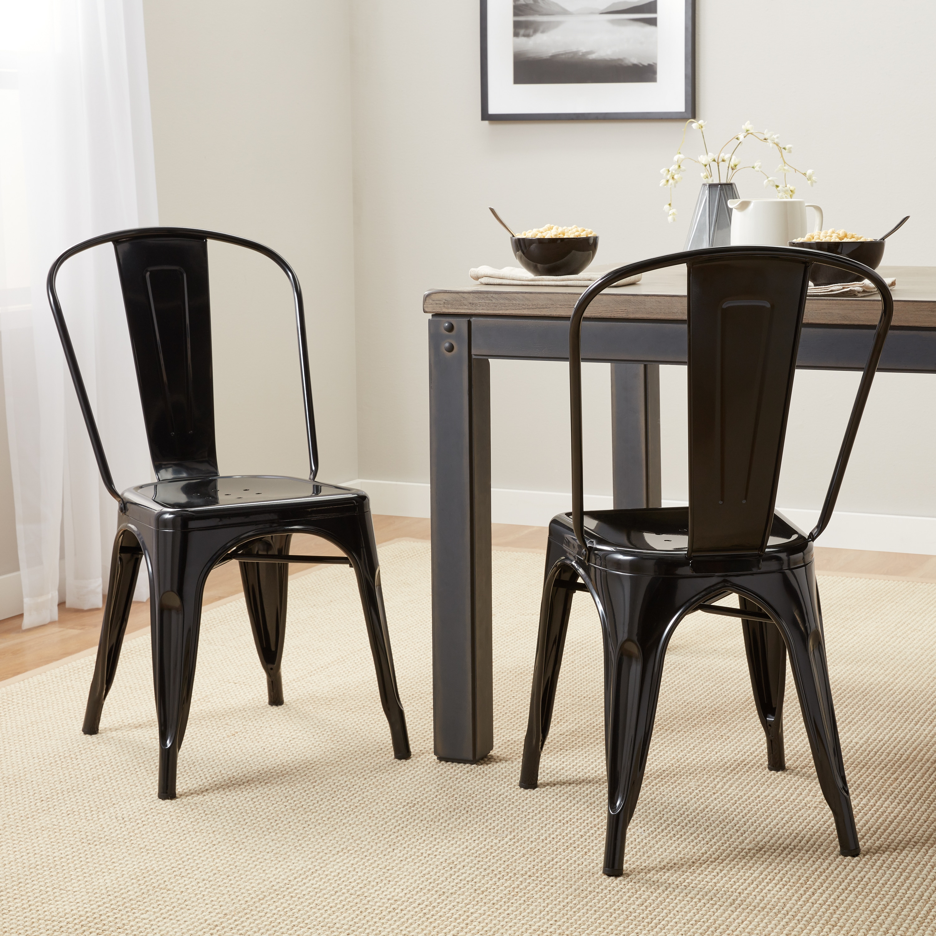 Shop Tabouret Bistro Steel Dining Chairs (Set Of 2)   Free Shipping Today    Overstock.com   7725495